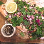 Leeora's baked salmon with sumac & red onion
