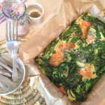 Smoked salmon, thyme & spinach frittata