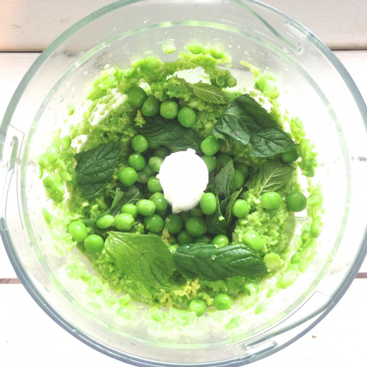 Lemon peas in the making