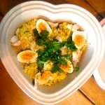 Cauliflower rice kedgeree with smoked haddock