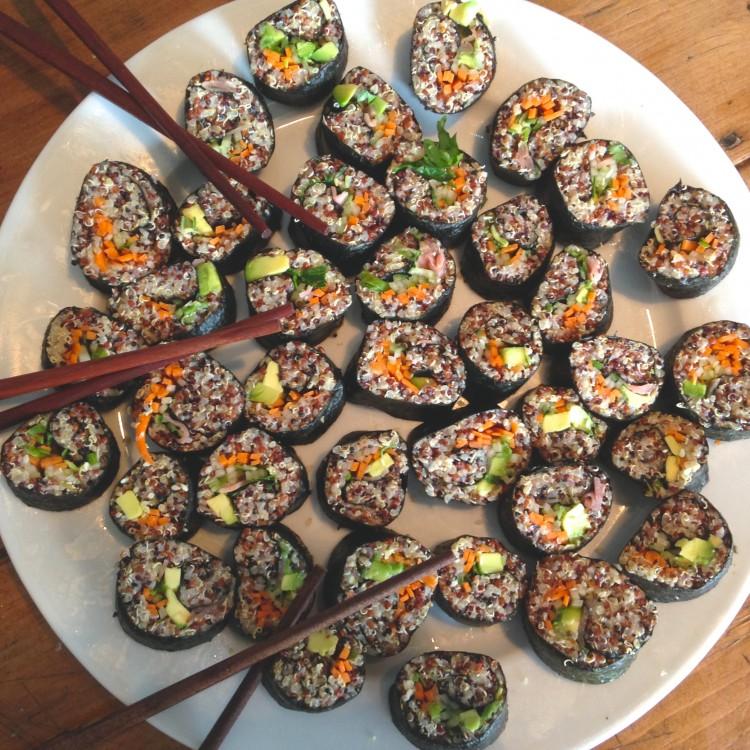 Quinoa & tahini sushi