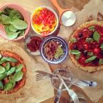 Cauliflower & chickpea pizza
