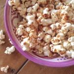 Cinnamon & coconut popcorn