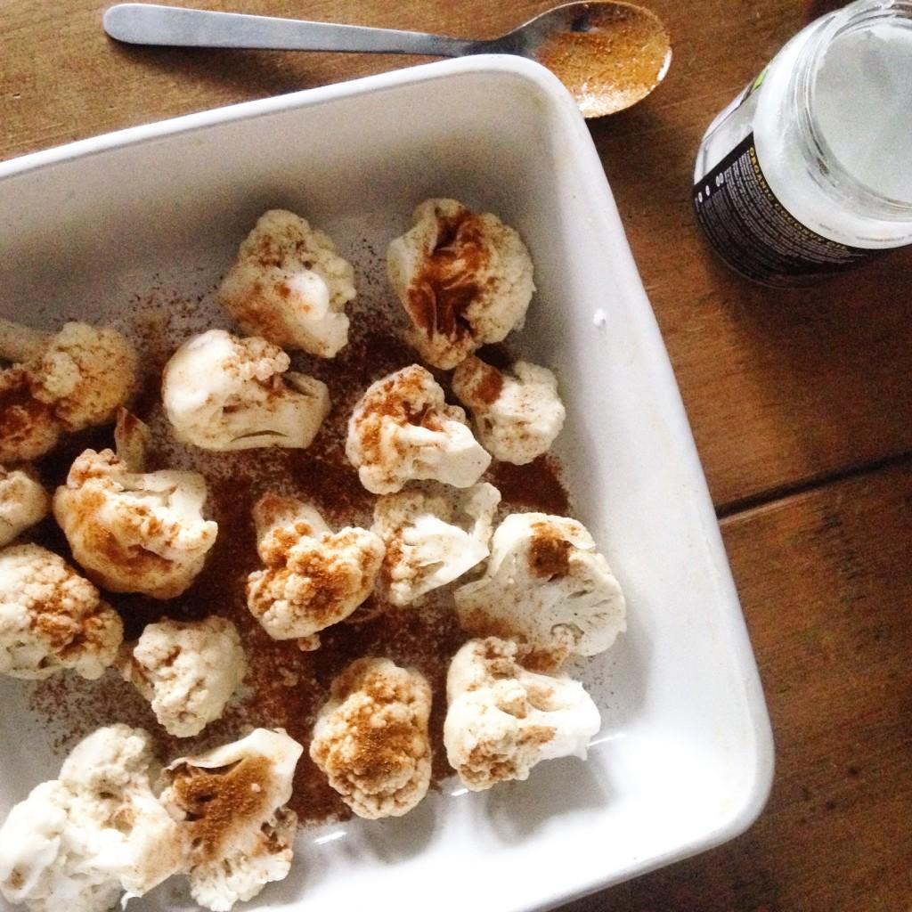 Roasted Curried Cauliflower & Chickpeas