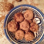 Raw almond & coconut cacao truffles