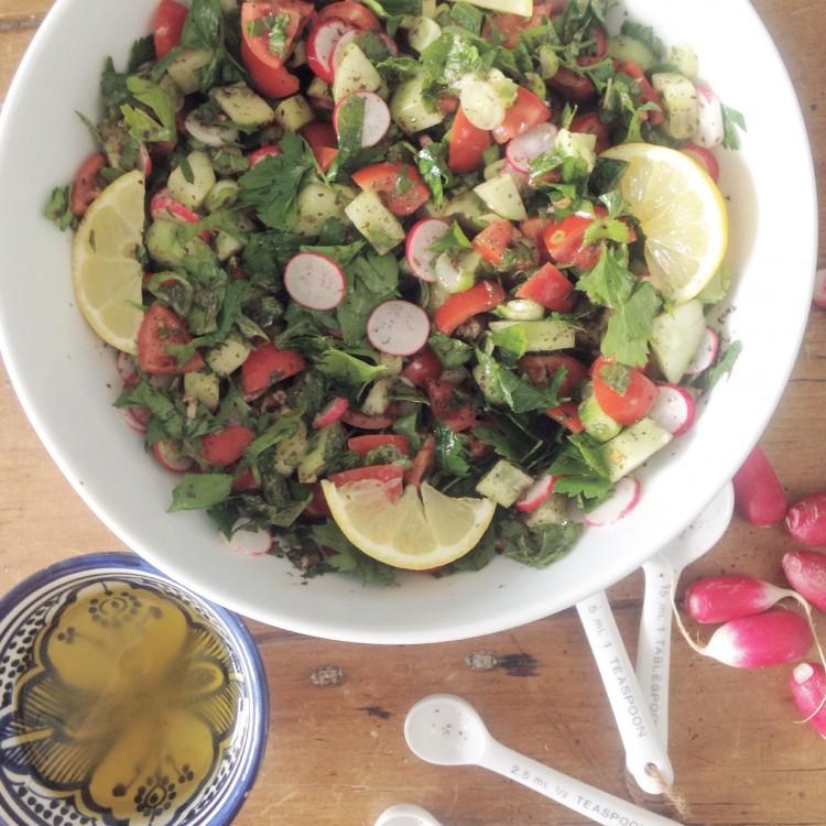 Fattoush salad, Fattoush salad ingredients, how to make Fattoush salad, healthy Fattoush salad
