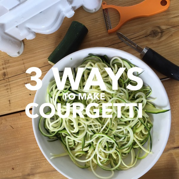 3 ways to make courgetti