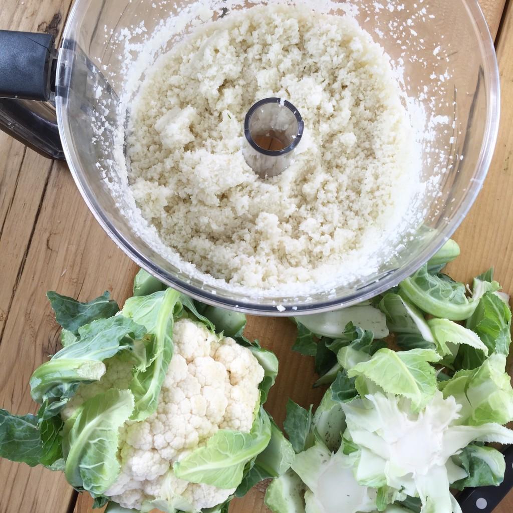 Cauliflower rice breakfast recipe