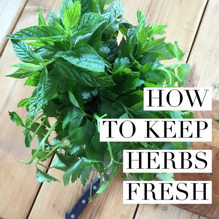 The secret to keeping herbs fresh