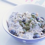 Chia Porridge With Blueberries, Cinnamon & Grated Pear