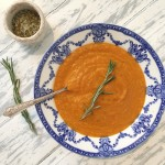 Roasted Tomato & Carrot Soup With Rosemary