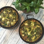 Mediterranean frittata with olives, sundried tomato and feta