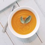 Sage infused butternut squash soup